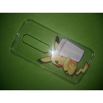 Capa Pokemon Celular Motorola Moto G3 Xt1543 - Frete 7 Reais