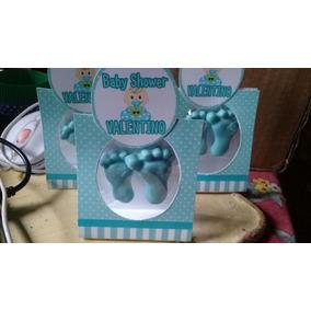 Souvenirs Jabones Piecitos En Cajita Baby Shower Nacimiento