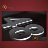 Numeros Y Letras 12cm Aluminio!! Frente, Casa, Porton,puerta