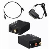 Convertidor Audio Optico A Rca Toslink Y Cable Optico