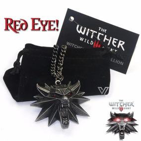 Colar The Witcher 3 Wild Hunt Geralt Rivia Medalhão De Lobo