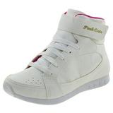 Tênis Infantil Feminino Cano Alto Branco Pink Cats - W464a