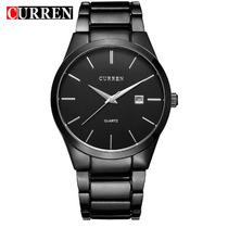 Relógio Importado Curren Casual Masculino Preto-preto