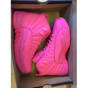 Tenis Nike Air Jordan Feminino Xll 12 Lebron Pink/rosa Caixa