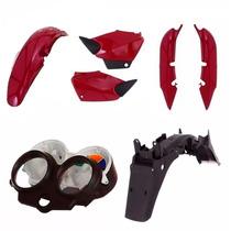 Kit Carenagem Plástico P/ Cg 125 Titan 125 Ano 2003 Vermelho