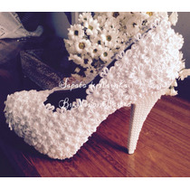 Sapato Pérola Noiva Casamento 10 Cm (frete Grátis)