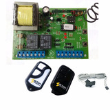 Central Placa De Portão + 2 Controles + 1 Sensor Fim Curso