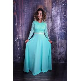 Vestido Longo Tiffany Madrinha Festa Casamento Formatura .
