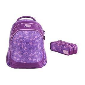 Mochila Escolar Violetta Disney 60485 + Estojo 60486