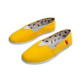 Alpargata Polo Clássica Cor Amarelo.
