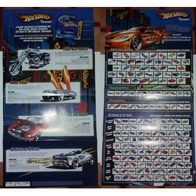 Poster Hot Wheels 2005, 2006, 2007, 2008, 2009, 2012