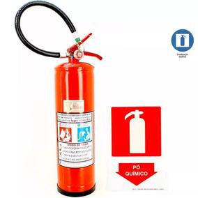 Extintor De Pó Químico Incêndio Bc 6kg + 1 Placa Grátis