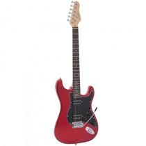 Guitarra Giannini G-102 Mr/bk Strato Vermelha - Refinado