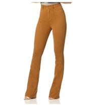 Calça Feminina Flare Hot Pants Colorida Denim Zero- Dz2291