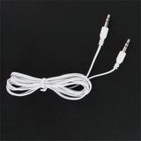 Blanco 3.5mm Stereo Mini Port Auxiliar Audio Cable Para Moto