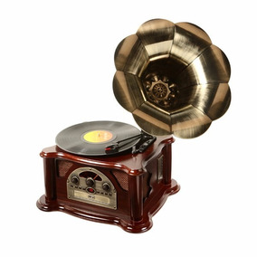 Gramofone Toca Discos Vinil Retrô Texas Radio Vitrola