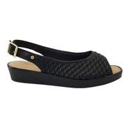 Sapato Aberto Confortavel Modare Preta Esporao 7036.309