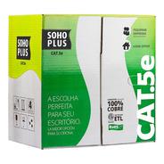 Cabo De Rede Furukawa Cat 5e Caixa 305m Cmx Soho Plus Nfe