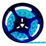 Fita Led Azul 5 Mts Com Dupla Face 3528 12v 300 Leds + Fonte