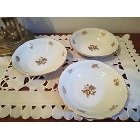 Juego 6 Compoteras Porcelana Verbano Impecable 14x3 Cm