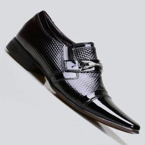 Sapato Social Masculino Calvest Em Couro Verniz