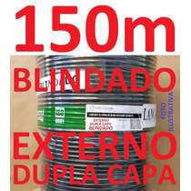 Cabo Rede Cat5e Preto 150m Ftp Externo Dc Blindado Condutti