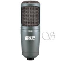 Microfone Condensador Profissional Skp 220