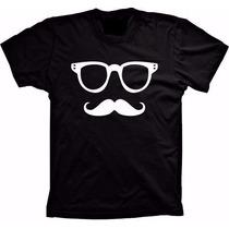 Camiseta Divertida Bigode Grosso 100% Algodão