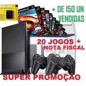 Playstation 2 Destravado Com Leitor Novo + 20 Jogos Ps2 Slim