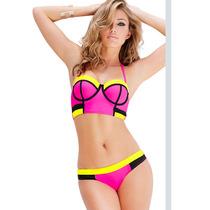 Conjunto Traje Baño Bikini Copas Moldeadas N4619 Vicky Form