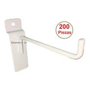 200 Gancho Blister Para Panel Ranurado Paquete De 200 Pzas