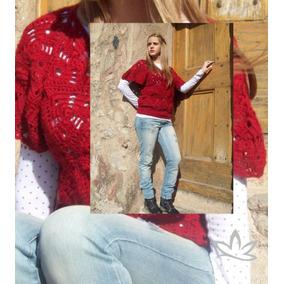 Chaleco Manawee Mujer Tejido Al Crochet Triangular