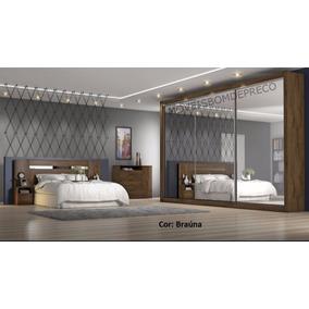 Dormitório Casal Toronto 3 Espelhos,fundo 3mm- Europa