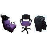 Combo Peluqueria Lavacabeza+silla Corte+ayudante Oferta!!