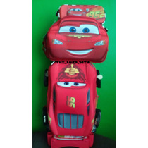 Mochila De Cars Rayo Macqueen Para Niños De Primaria 3 Pzas