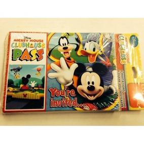 Invitaciones Mickey Mouse Playtime Le Agradece Notas W Sobre