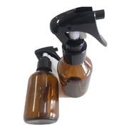 2 Frascos 500 Ml Vidro Válvula Gatilho Spray Preta Aroma