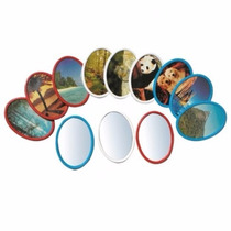 Espelho De Bolso Oval Lembrançinha Aniversario (cx C/ 36 Un)
