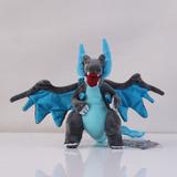 Centro Pokemon Azul Y Negro Mega Charizard X De Peluche...