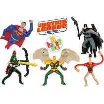 Coleção Liga Da Justiça Batman Superman Mc Donalds Lanche Dc