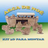 Arca De Noé 60x20x30cm Decoração P/montar Mdf Puzzle 3d