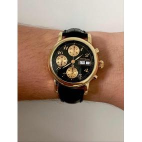 Montblanc Meisterstuck Chronograph De Ouro Maciço 18k ! Raro