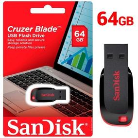 Pen Driver 64gb Sandisk Cruzer Blade Original Lacrado