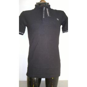 Camisa Playera Tipo Polo Armani Exchange Color Negro
