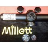 Mira Telescópica Millett 1-4x24 Táctica Retículo Iluminado