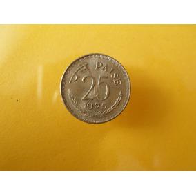 Moneda 25 Paisa 1975 La India Bonita