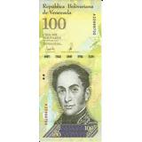 Billete Venezuela 100 Mil Bolivares 2017