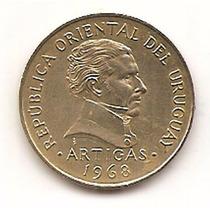 Moneda De Uruguay 10 Pesos Año 1968 Km#51