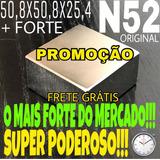 Imã Neodímio N52-50,8x50,8x25,4, Mais Forte Do Que O N50