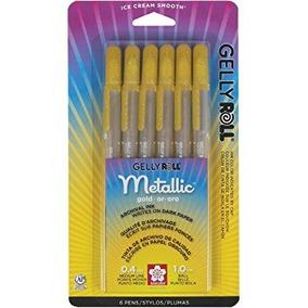 Sakura 57383 6-piece Gelly Roll Metallic Gel Pen Set Bold Go